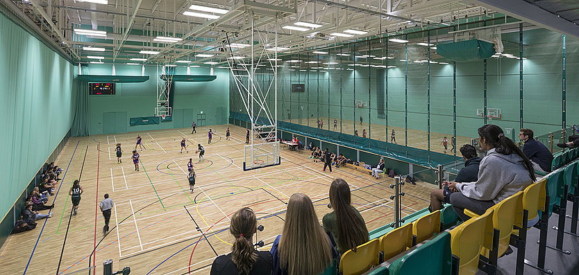 The largest University sports hall in the UK at 3,840sq.m